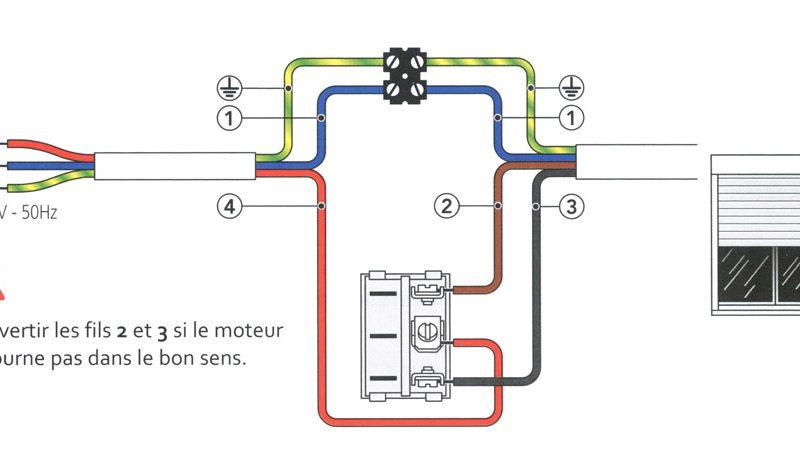 comment brancher un volet roulant électrique